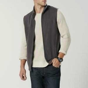 **NEW** Men's Zip Zipper Fleece Vest - Soft - Color: Gray - Size: S Small