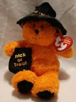 """TY Beanie Babies """"WITCHY"""" the HALLOWEEN Teddy Bear - MWMTs! RETIRED! GREAT GIFT!"""