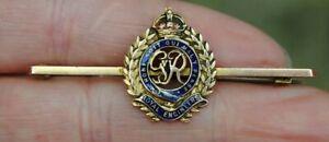 Royal Engineers Solid gold sweetheart brooch