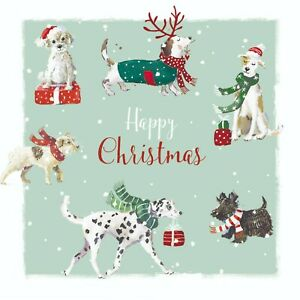 Charity Christmas Cards Pawfect Festive Dogs Puppies Pack of 10 Small Cards