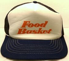 Vintage Food Basket Stores Mesh Trucker Hat Grocery Lucky Stores California