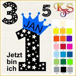 ♡♥ Bügelbild Hotfix Jetzt bin ich * Geburtstag Zahl Sterne  Flex Folie 20 Fb ♡♥