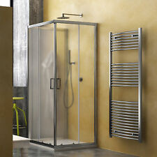 Box doccia tre lati 80x100x80 cabina bagno scorrevole cristallo opaco temperato