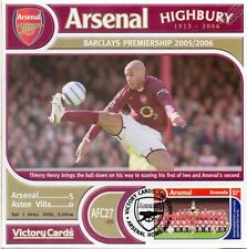 Arsenal 2005-06 Aston Villa (Thierry Henry) Football Stamp Victory Card #527