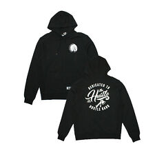 Mens Hustle Gang Dedicated Pullover Hoodie Black