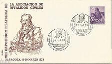 VIII Exposicion Filatelica de la Asociacion de Invalidos Civiles Zaragoza 1973