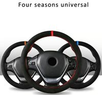 Car Steering Wheel Cover Microfiber Suede Hand-stitched Soft Steer1pcs 38cm DIY
