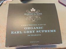Harney & Sons 50 count box Organic EARL GREY SUPREME teabags