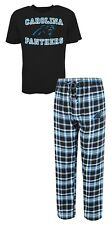 Carolina Panthers NFL Men's Shirt and Pajama Pants PJ Sleep Set 2XL 44-46