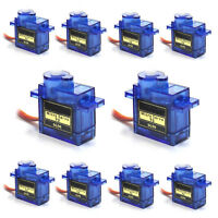 10pcs 9G SG90 Mini Micro Servo For RC Robot Helicopter Airplane Car Boat Control