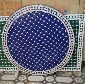 Moroccan garden Zalij tables: 40cm/60cm/70 cm& diameter made to order. POA