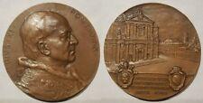 Vaticano medaglia papa PIo XI centenario nascita 1957