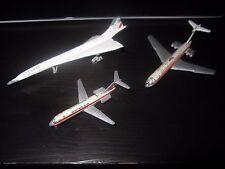 3x Schuco Concorde AIR FRANCE 335 789 Airplane Flugzeug Swiss Air IL 62 Plane