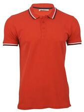 Mens Brave Soul Twin Tipped Pique Polo T Shirt 'Pavlov' Short Sleeved (Red, XL)