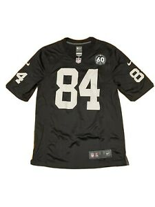 Nike Antonio Brown #84 Oakland Raiders 60th Anniversary Black Jersey Size Small
