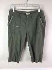 "Royal Robbins Womens Pants Pedal Pusher Bermuda Green 15"" inseam Size 8"
