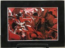 WONDER WOMAN By ALEX ROSS Pro Matted Print Kingdom Come DC Comics JLA Superman