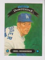 1993 Donruss Diamond Kings #DK-14 Orel Hershiser card, Los Angeles Dodgers