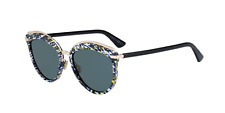 Christian Dior Offset2 9N7 2K Sunglasses Multicolor Frame Green Lenses 55mm