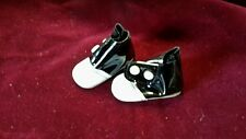 Premier white / black boots side snaps for Madame Alexander 14 inch DOLL SHOES
