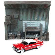 JOHNNY LIGHTNING JLSP032 CHRISTINE 1958 PLYMOUTH FURY 1/64 w GARAGE RESIN FACADE
