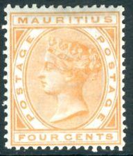 MAURITIUS-1879 4c Orange Sg 93 MOUNTED MINT V15594