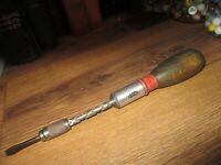 Vintage Stanley Handyman.no.133H Yankee Spiral Ratchet Screwdriver made in USA