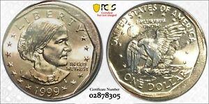 1999-P $1 Susan B Anthony Mint Error Off Center RicksCafeAmerican.com