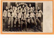 Real Photo Postcard RPPC - Crimson Football Team - Sports