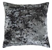 """LUXURIOUS GREY CRUSHED VELVET THICK SOFT CUSHION COVER 20"""" - 50CM"""