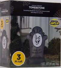Halloween Gemmy 3 ft  R.I.P. Here Lies Willie B Back Tombstone Inflatable NIB