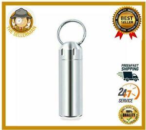 Waterproof Keychain Pill Box Case Portable Mini Holder Outdoor Travel
