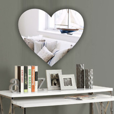 Heart Acrylic Wall Mirror *PERSONALISED4 FREE* NO Drilling Wedding Birthday Gift