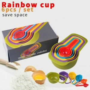 6pcs in Set Rainbow Measuring Cup