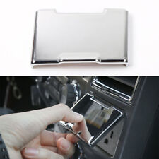Chrome ABS Center Console Power Outlet Cap Cover Trim Decor For Ford F-150 2015+