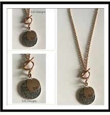 """"""" BE HAPPY"""" pendent With Rose Gold """"BE"""" Charm - on Rose Gold FOB CHAIN necklace"""
