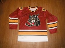 NEW Chicago Wolves Sewn Jersey Men's Medium Minor League Hockey IHL!!