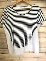 REGATTA Women's Striped Casual Short Sleeve Top Blouse Size 14