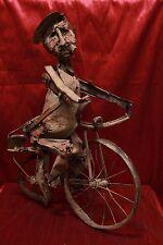 Statua in ferro con materiali di recupero francese anni '70 art old antique