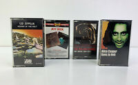 Lot of 4 - Vintage Rock Cassette Tapes - Zeppelin, Alice Cooper, Rolling Stones