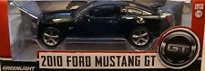BLACK 2010 FORD MUSTANG GT GREENLIGHT 1:18 SCALE DIECAST METAL MODEL CAR