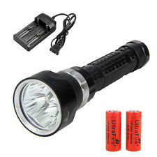 15000Lm 4x XM-L T6 LED Scuba Diving Flashlight Torch 26650 Lamp Underwater 200M