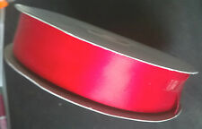 5 metres Red single faced Satin Ribbon 1 inch (24mm) wide