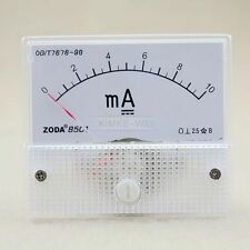 DC 0-10mA Analog Amp Meter Ammeter Current Panel New
