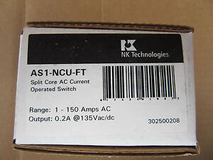 NK Technologies AS1-NCU-FT Split Core AC Current Sensing Switch 1-150A NEW!!!!!