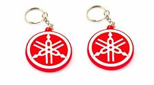 2 RUBBER YAMAHA MOTORCYCLE KEYCHAIN KEY RING  RED