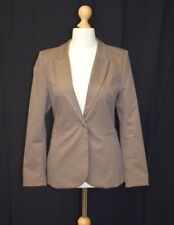 Ladies H&M Brown Blazer Suit Jacket Formal Button Front Size 10