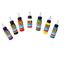 Professional Tattoo Ink 7 Colors Set 1oz 30ml/Bottle Pigment Kit  TI301-30-7