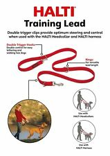 HALTI Training Lead Red Large Versatile Comfortable to Use Soft Padded Material.
