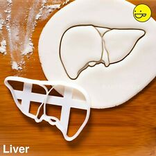 Liver cookie cutter |doctor anatomy medical macabre halloween physiology biscuit